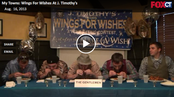 Video from Fox 61 | J  Timothy's Taverne - Wings for Wishes